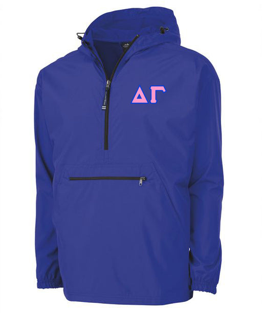 Delta Gamma Embroidered Pack and Go Pullover