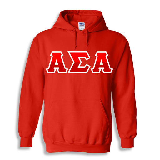 Alpha Sigma Alpha Two Toned Lettered Hooded Sweatshirt