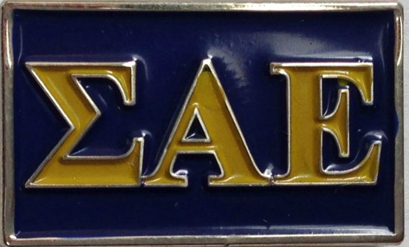 Sigma Alpha Epsilon Fraternity Flag Pin