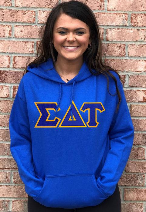 Sigma Delta Tau Lettered Hoodie