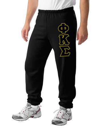 Phi Kappa Sigma Sweatpants with Sewn-On Letters