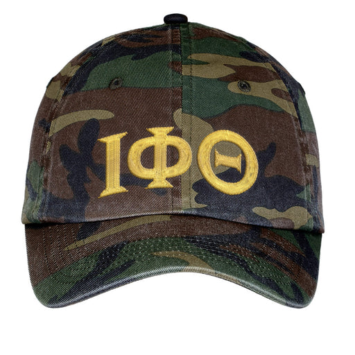 Iota Phi Theta Letters Embroidered Camouflage Hat