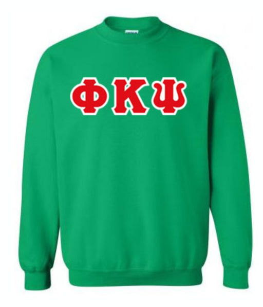 Phi Kappa Psi Classic Colors Sewn-On Letter Crewneck