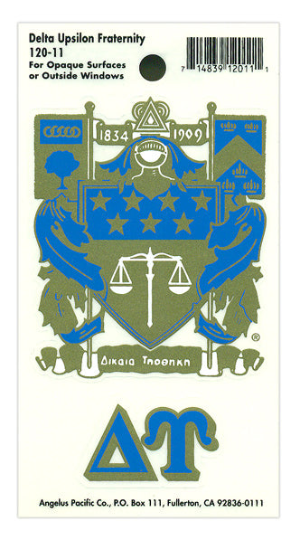 Delta Upsilon Crest Decal