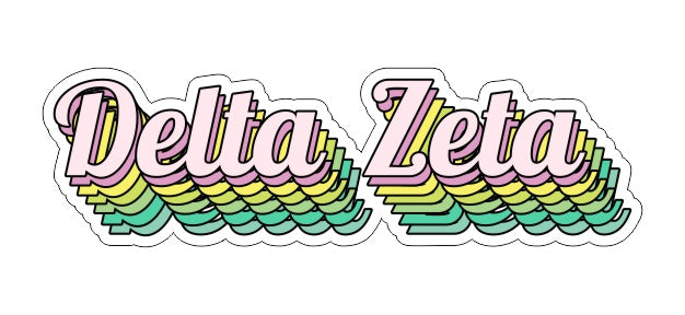 Delta Zeta New Hip Stepped Sticker