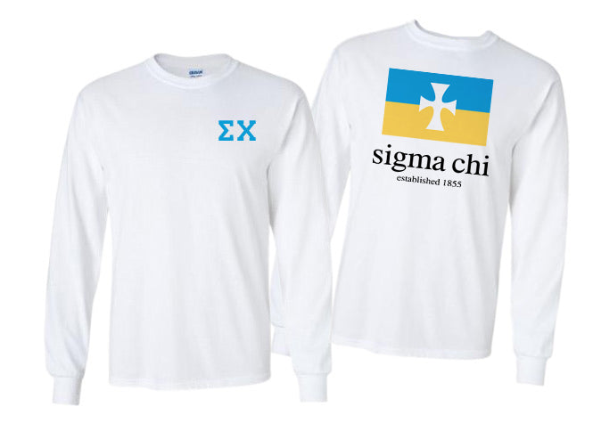 Sigma Chi Long Sleeve Flag Tee