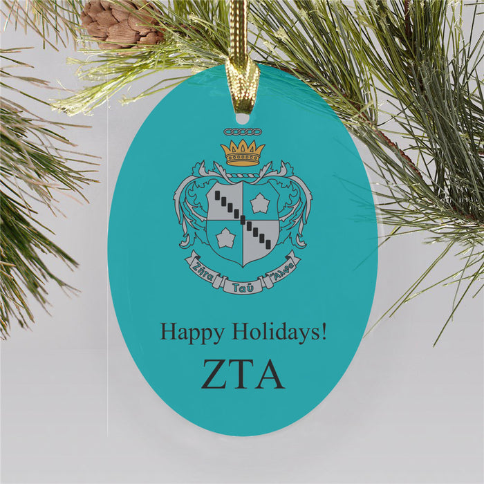 Zeta Tau Alpha Color Crest Ornament