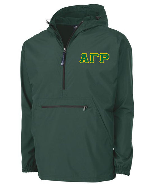 Alpha Gamma Rho Embroidered Pack and Go Pullover