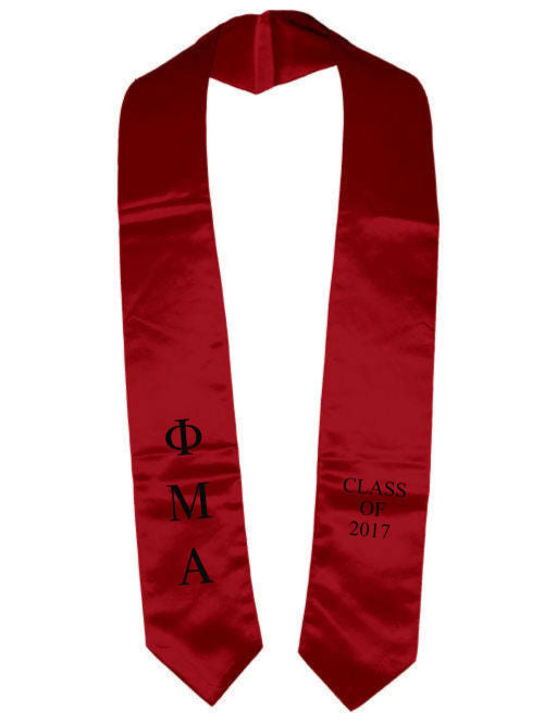 Phi Mu Alpha Classic Colors Embroidered Grad Stole