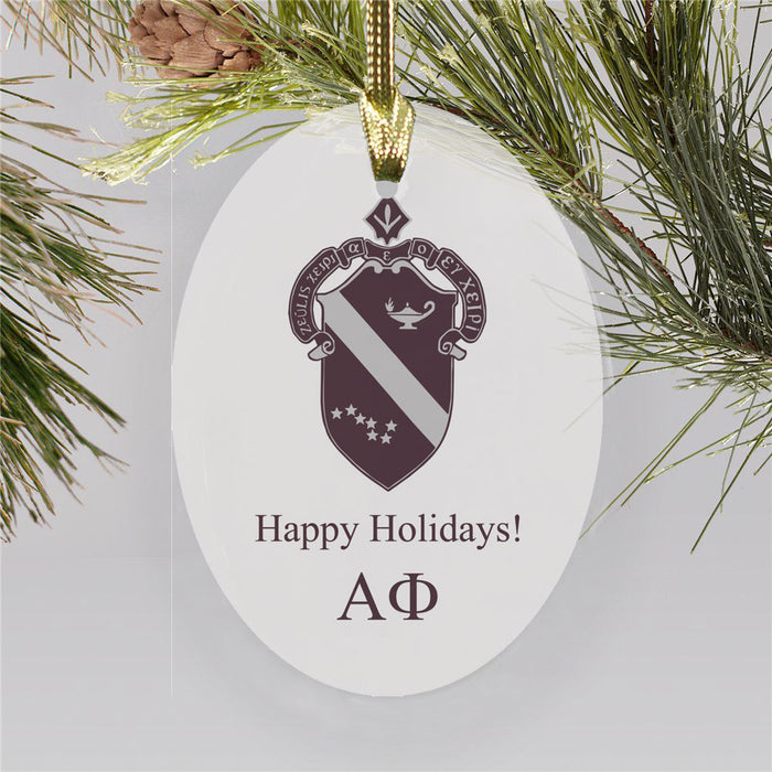 Alpha Phi Color Crest Ornament