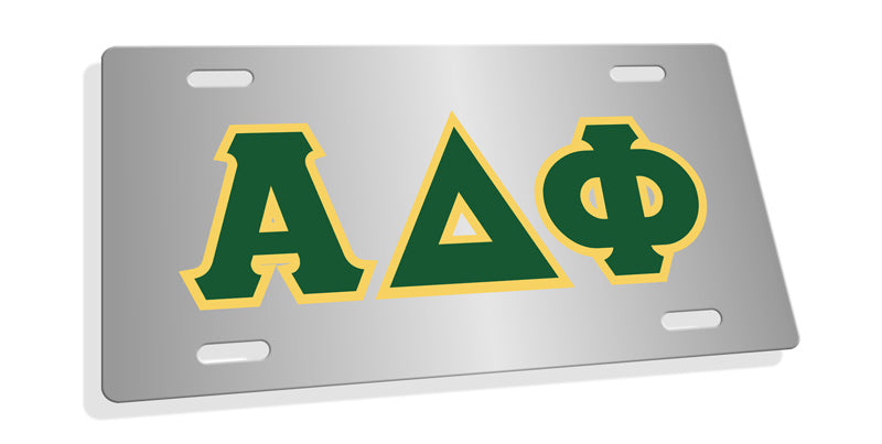 Alpha Delta Phi Fraternity License Plate Cover