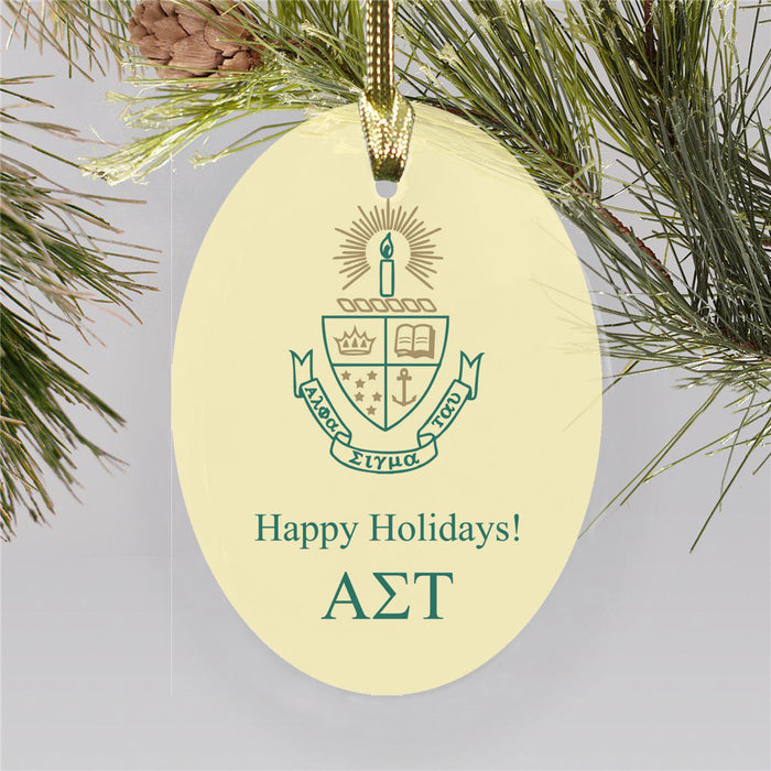 Alpha Sigma Tau Color Crest Ornament