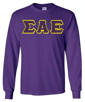 Sigma Alpha Epsilon Long Sleeve Greek Lettered Tee