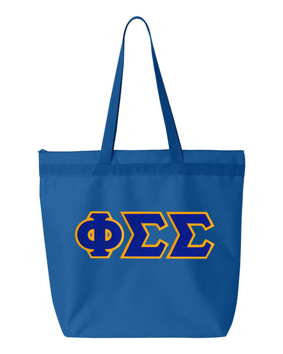 Phi Sigma Sigma Greek Lettered Game Day Tote