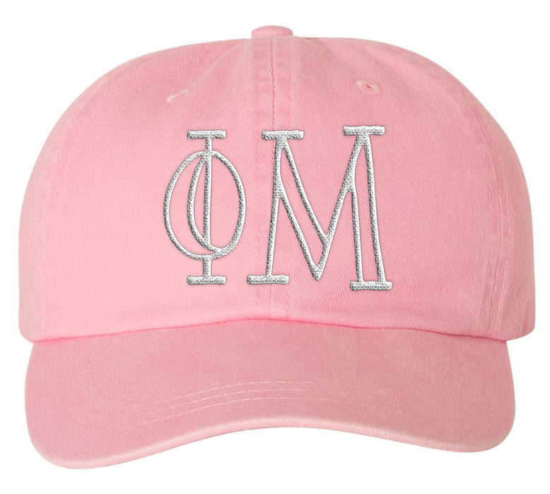 Phi Mu Sorority Greek Carson Embroidered Hat