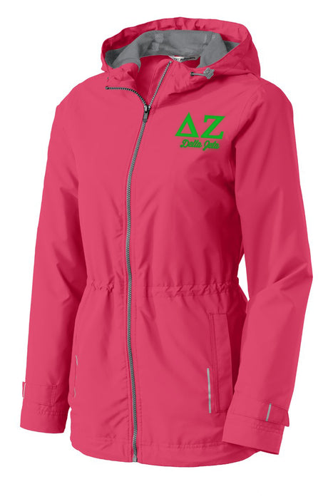 Delta Zeta Embroidered Ladies Northwest Slicker