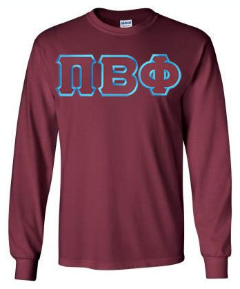 Pi Beta Phi Long Sleeve Greek Lettered Tee