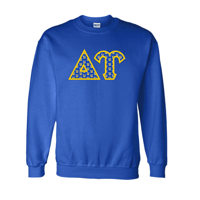 Delta Upsilon Classic Colors Sewn-On Letter Crewneck