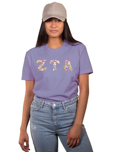 Zeta Tau Alpha The Best Shirt with Sewn-On Letters