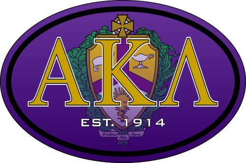 Alpha Kappa Lambda Color Oval Decal