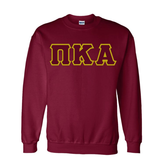 Pi Kappa Alpha Classic Colors Sewn-On Letter Crewneck