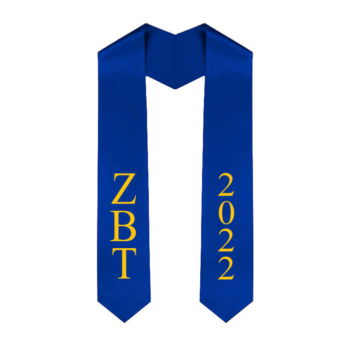 Zeta Beta Tau Vertical Grad Stole with Letters & Year