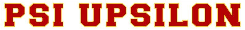 Psi Upsilon Back Of The Window Long Sticker