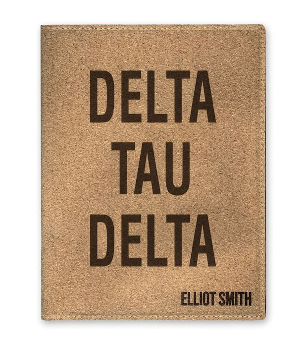Delta Tau Delta Cork Portfolio with Notepad