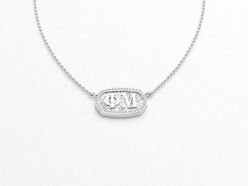 Phi Mu Greek Necklace