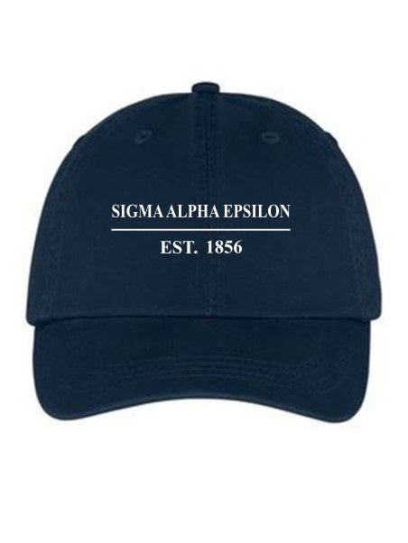 Sigma Alpha Epsilon Line Year Embroidered Hat