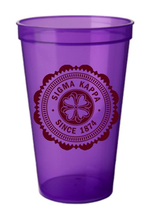 Sigma Kappa Classic Oldstyle Giant Plastic Cup