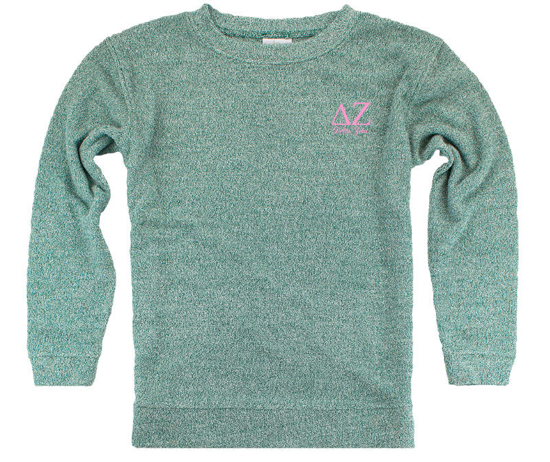 Delta Zeta Lettered Cozy Sweater