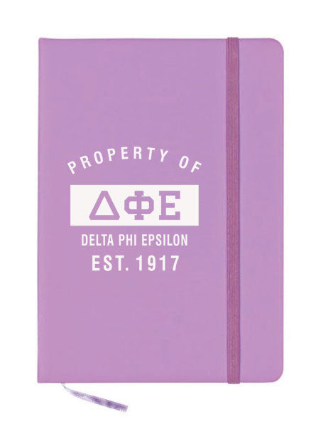 Delta Phi Epsilon Property of Notebook