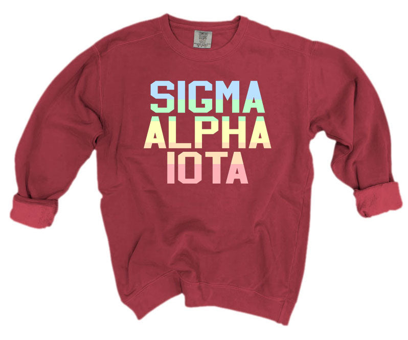 Sigma Alpha Iota Comfort Colors Pastel Sorority Sweatshirt