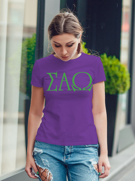 Sigma Alpha Omega University Letter T-Shirt