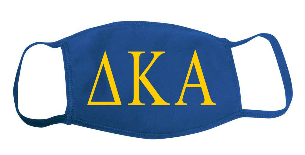 Delta Kappa Alpha Face Mask With Big Greek Letters
