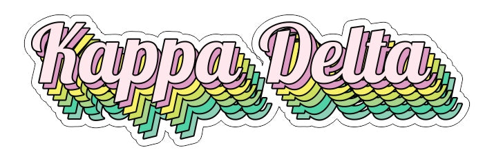 Kappa Delta New Hip Stepped Sticker