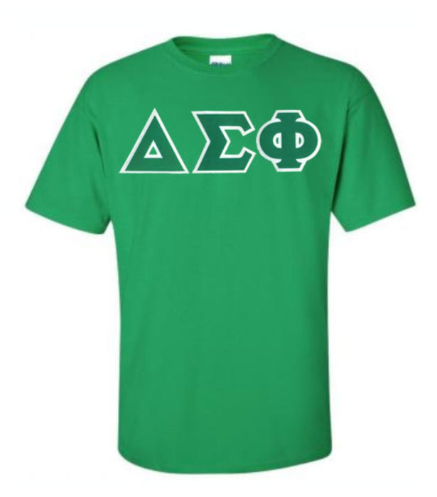 Delta Sigma Phi Lettered T Shirt