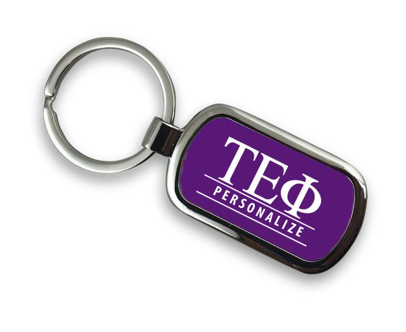Tau Epsilon Phi Chrome Key Chain