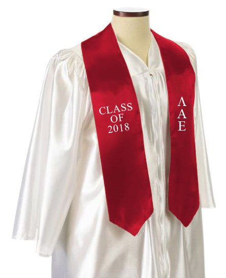 Lambda Alpha Upsilon Classic Colors Embroidered Grad Stole
