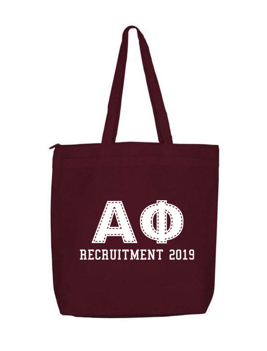 Alpha Phi Collegiate Letters Event Tote Bag