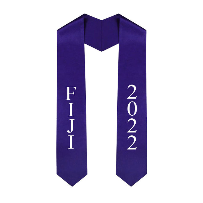 Fiji Vertical Grad Stole with Letters & Year