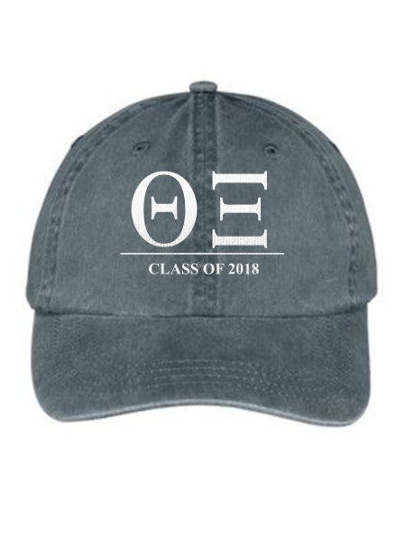Theta Xi Embroidered Hat with Custom Text