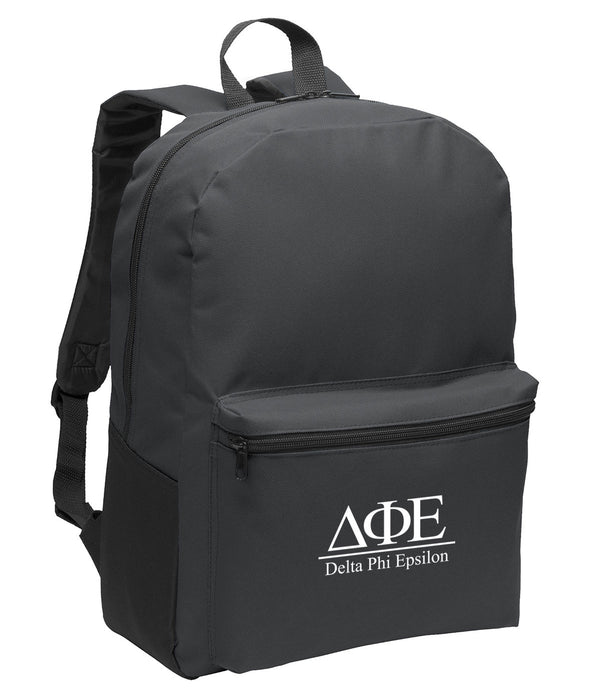 Delta Phi Epsilon Collegiate Embroidered Backpack