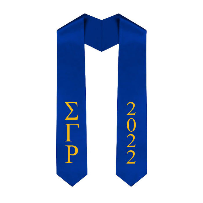 Sigma Gamma Rho Vertical Grad Stole with Letters & Year