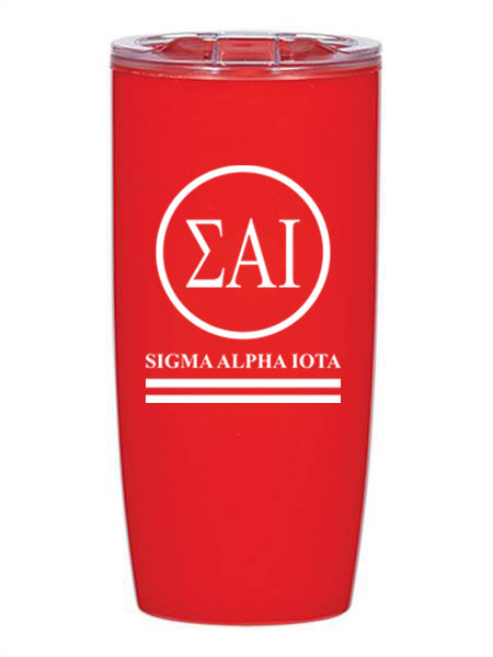 Sigma Alpha Iota Circle Stripes 19 oz Everest Tumbler