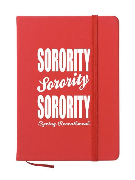 Sorority Cursive Impact Notebook