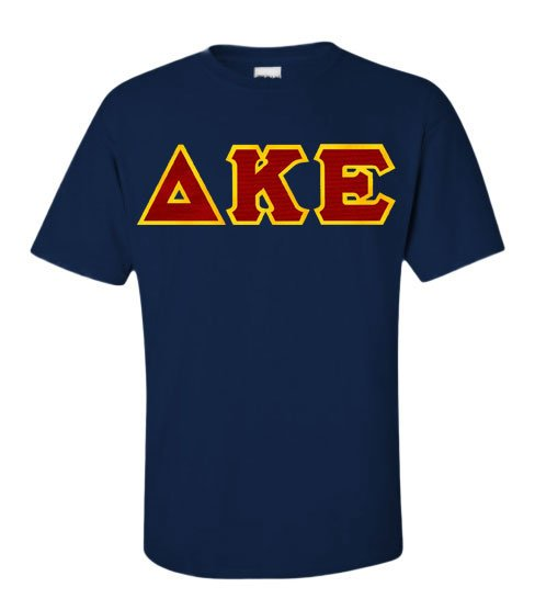 Delta Kappa Epsilon Short Sleeve Crew Shirt with Sewn-On Letters