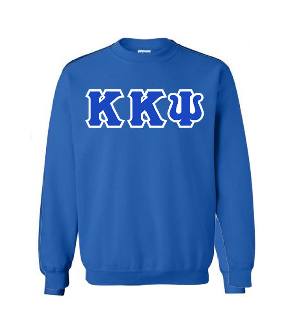 Kappa Kappa Psi Classic Colors Sewn-On Letter Crewneck