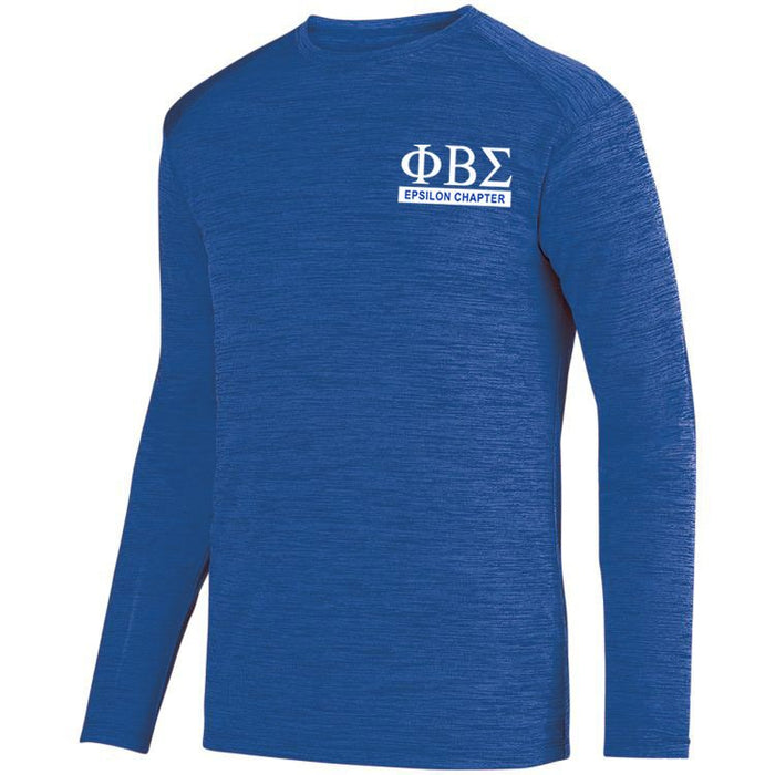 Phi Beta Sigma $20 World Famous Dry Fit Tonal Long Sleeve Tee